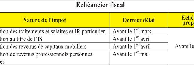 echeancier fiscal