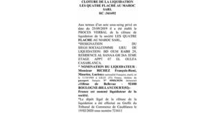 annonce légale maroc liquidation