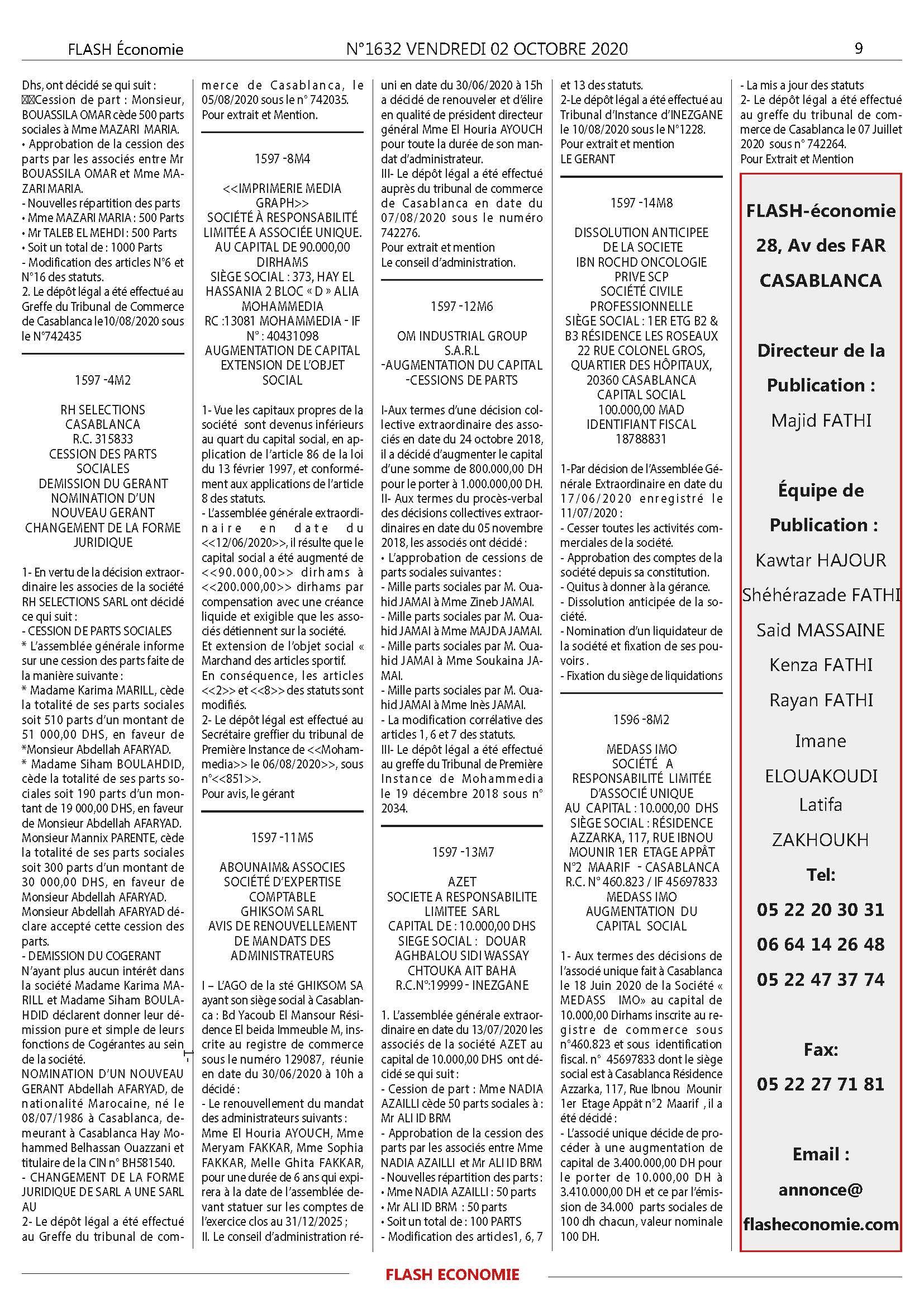 journal annonce légale maroc